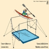 Cartoon: canoe slalom on uneven bars (small) by raim tagged canoe,slalom,olympics,games,uneven,bars
