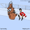 Cartoon: equestrian diving (small) by raim tagged olympics,diving,equestrian,games,horse