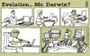 Cartoon: evolution (small) by raim tagged evolution darwin raim cartoon