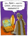 Cartoon: first day in the office (small) by raim tagged poep,francis,ratzinger