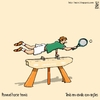 Cartoon: Pommel horse tennis (small) by raim tagged pommel,horse,tennis,games,olympics