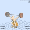 Cartoon: Underwater weightlifting (small) by raim tagged weightlifting,underwater,olympics,games