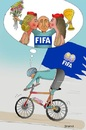 Cartoon: FIFA  Re elected (small) by Afghancartoon tagged 0216