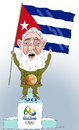 Cartoon: Happy birthday Great Castro (small) by Shahid Atiq tagged afghanistan,kabul,syria,iran,switzerland,schweiz,usa,france,football,safi,cartooneu,uk,safe,atiq,fara,shahid,nice,caricatue,cartoon,on,entry,fidel,castro