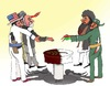 Cartoon: Taliban in Qatar (small) by Afghancartoon tagged afghanistan,kabul,qatar,taliban,terrorism,mazar