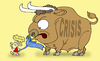 Cartoon: taming the bull (small) by gonopolsky tagged europe,crisis,mutual,assistance