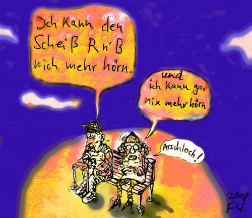 Cartoon: Arschloch (medium) by Faxenwerk tagged senioren,