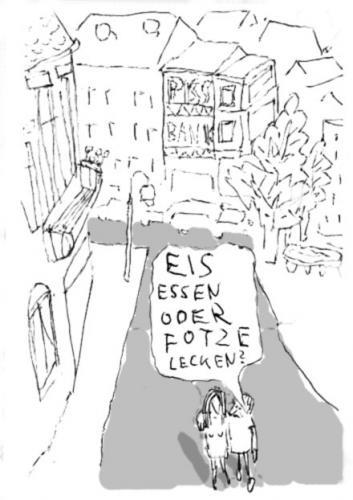 Cartoon: der sommer ist da (medium) by Faxenwerk tagged faxenwerk,schmalfuß,eis