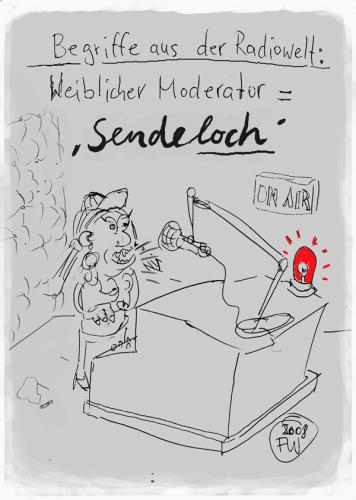 Cartoon: Radiosprache (medium) by Faxenwerk tagged radio,