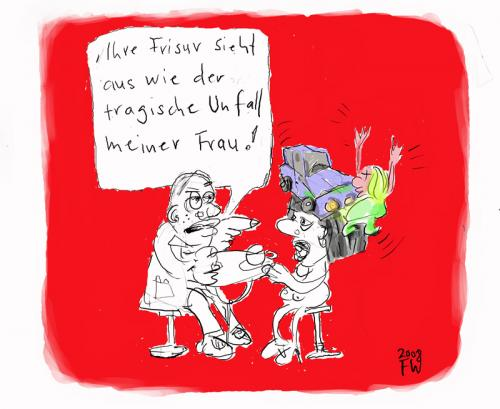 Cartoon: Unfall (medium) by Faxenwerk tagged frisur,