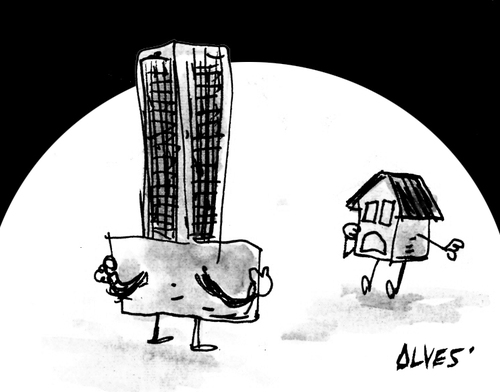 Cartoon: flasher (medium) by alves tagged ocupation