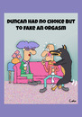 Cartoon: Doberman Lover cartoon (small) by The Nuttaz tagged dogs,doberman,date,orgasm,embarrassing,pets,lounge,funny,humor