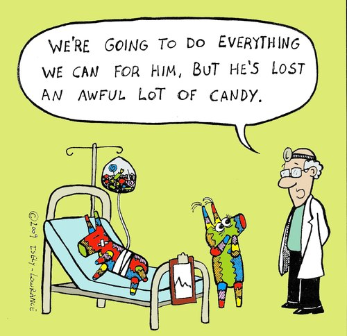 Cartoon: pinata color version (medium) by sardonic salad tagged pinata,doctor