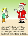 Cartoon: Santa and little Fred (small) by sardonic salad tagged santa,poo