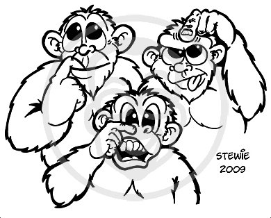 Cartoon: 3 monkeys (medium) by stewie tagged monkeys