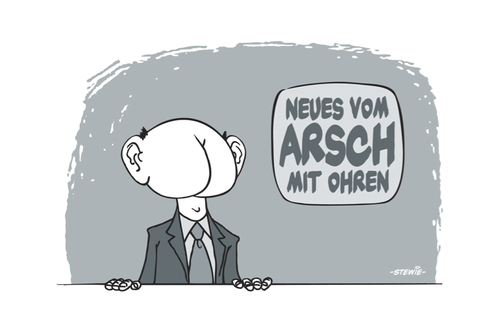 Cartoon: Arsch mit Ohren (medium) by stewie tagged arsch