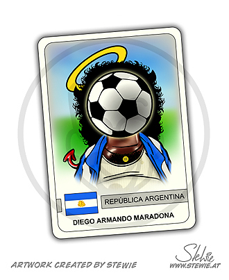 Cartoon: Diego Armando Maradona (medium) by stewie tagged maradona,soccer,fussball,fußball