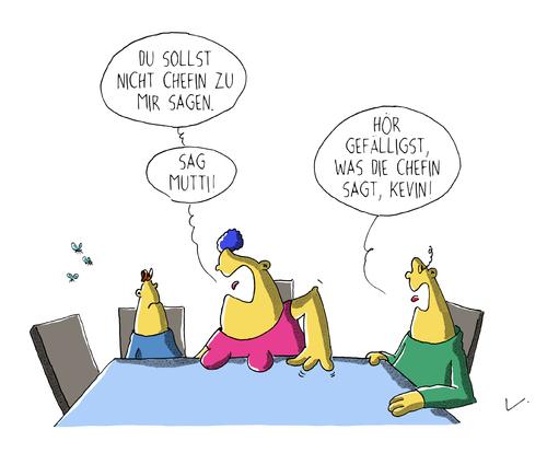 Chefin von sch n bl d liebe cartoon toonpool for Couch flicken