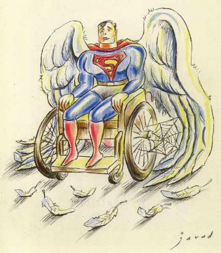 Cartoon: Homage to Christopher Reeve (medium) by javad alizadeh tagged christopher,reeve,superman,