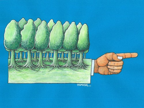Cartoon: Parkway (medium) by ercan baysal tagged magazine,newspaper,image,logo,tattoo,coloring,picture,fantasy,deydream,dream,surreal,idea,satire,humour,illustration,cartoon,ercanbaysal,handmade,hand,forefinger,finger,branch,tree