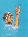 Cartoon: Victory (small) by ercan baysal tagged victory,time,health,baysal,türkiye,turkey,gulp,selfie,vision,good,job,work,picture,pencil,fantasy,daydream,master,favorite,handmade,resistance,art,artwork,humour,turquie,colour,man,sea,water,blue