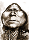 Cartoon: Satanta (small) by jmborot tagged satanta,caricature,native,american,jmborot