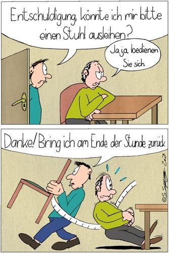 stuhl ausleihen von chaosartwork philosophie cartoon On stühle ausleihen