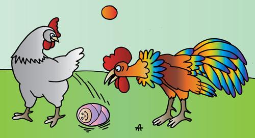 Cartoon: Chicken (medium) by Alexei Talimonov tagged chicken
