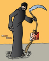 Cartoon: For sale (small) by Alexei Talimonov tagged death