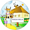 Cartoon: Fresh Milk (small) by Alexei Talimonov tagged country,life