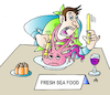 Cartoon: Fresh Sea Food (small) by Alexei Talimonov tagged sea,food