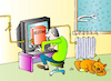 Cartoon: Heating (small) by Alexei Talimonov tagged heating
