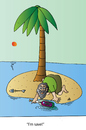 Cartoon: I am saved (small) by Alexei Talimonov tagged save island