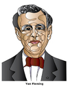Cartoon: Ian Fleming (small) by Alexei Talimonov tagged ian,fleming