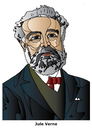 Cartoon: Jules Verne (small) by Alexei Talimonov tagged verne