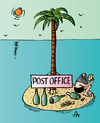 Cartoon: Post Office (small) by Alexei Talimonov tagged post office island
