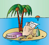 Cartoon: publisher island (small) by Alexei Talimonov tagged publisher books island