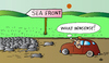 Cartoon: Sea Front (small) by Alexei Talimonov tagged sea,front