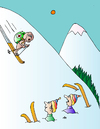 Cartoon: Skiing (small) by Alexei Talimonov tagged skiing