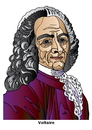 Cartoon: Voltaire (small) by Alexei Talimonov tagged voltaire