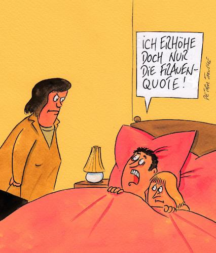 Cartoon: frauenquote (medium) by Peter Thulke tagged frauenquote,frauenquote