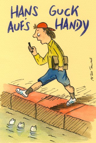Cartoon: handy (medium) by Peter Thulke tagged handy,handy