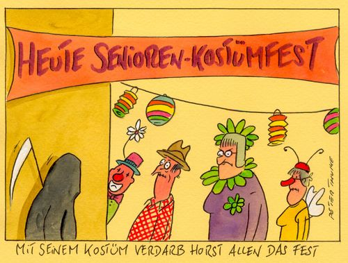 Cartoon: kostümfest 2 (medium) by Peter Thulke tagged fasching,karneval,kostümfest,fasching,karneval,kostümfest
