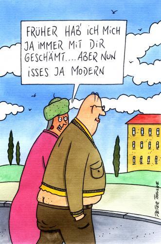 modern von Peter Thulke | Berühmte Personen Cartoon | TOONPOOL