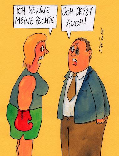 Cartoon: rechte (medium) by Peter Thulke tagged ehe,boxen,rechte,ehe,boxen,rechte