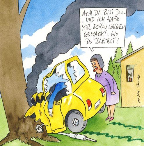 sorgen von Peter Thulke | Liebe Cartoon | TOONPOOL
