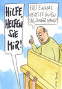 Cartoon: hilfe (small) by Peter Thulke tagged helfen,benehmen