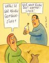 Cartoon: kaffeelikör (small) by Peter Thulke tagged date