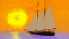 Cartoon: Schiff im Sonnenuntergang (small) by ChrisCross tagged malen