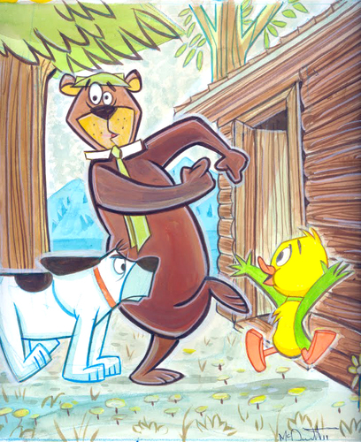 Cartoon: Yogi Bear (medium) by Cartoons and Illustrations by Jim McDermott tagged yogibear,tv,animation